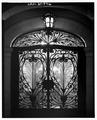 SOUTH FRONT DOOR, DETAIL, AT NIGHT - Keith-Brown House, 529 East South Temple, Salt Lake City, Salt Lake County, UT HABS UTAH,18-SALCI,26-6.tif