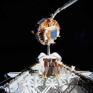 Space Flyer Unit - Space Flyer Unit photographed from Endeavour during STS-72 mission