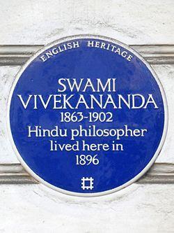 Swami vivekananda 1863 1902 hindu philosopher lived here in 1896