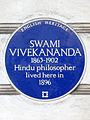 SWAMI VIVEKANANDA 1863-1902 Hindu philosopher lived here in 1896.jpg