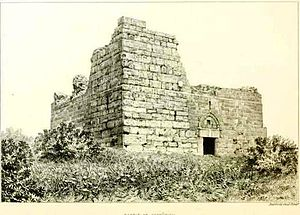 Sepphoris - Remains of Crusader fortress in Sepphoris, 1875