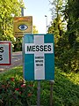 Saint-Georges-de-Reneins - Panneau indication messes (juin 2018).jpg