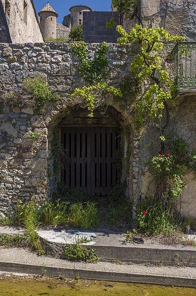 Old door/passage in the village of Saint-Jean-de-Buèges, Hérault, France