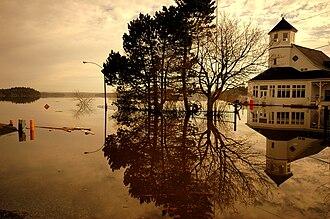 Saint John River (Bay of Fundy) - Image: Saint John River Flood