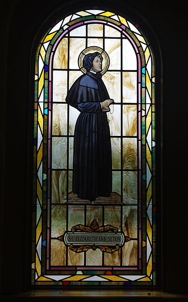 File:Saint Paul Catholic Church (Westerville, Ohio) - stained glass, arcade, Saint Elizabeth Ann Seton.jpg