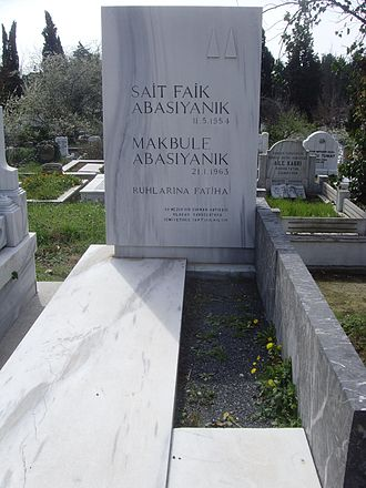Sait Faik Abasıyanık - Grave of Sait Faik Abasıyanık and his mother Makbule