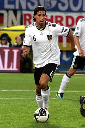 Sami Khedira - Khedira playing for Germany in 2011
