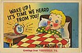 Sample of the General Comic Town Local Post Cards, examples use greetings from Vernfield, PA,... (NBY 423294).jpg