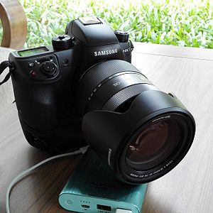 Samsung NX1 - Samsung NX1 with battery grip and 16-50mm f/2-2.8 lens