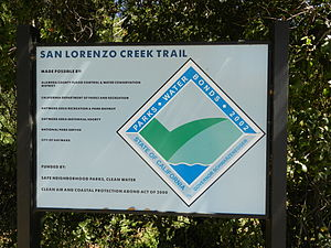 San Lorenzo Creek - San Lorenzo Creek Trail entrance