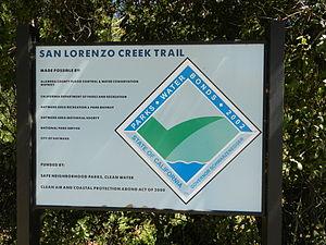 San Lorenzo Creek - San Lorenzo Creek Trail entrance