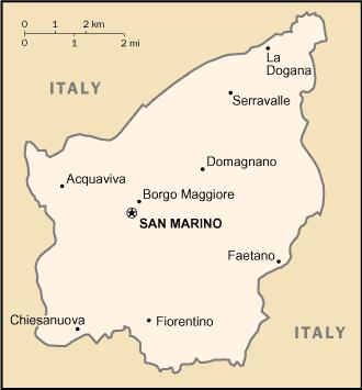 San Marino-CIA WFB Map
