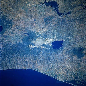 Supervolcano - Image: San Salvador From Space