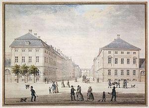 Sankt Annæ Plads - Sankt Annæ Plads in 1840