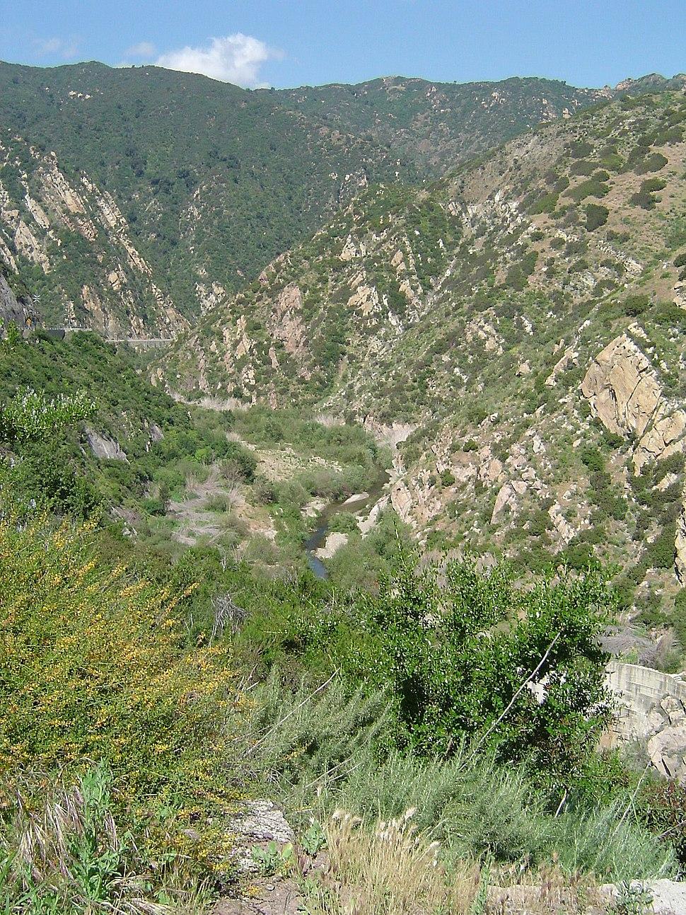 Santa monica mountains canyon