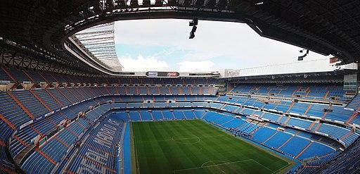 panorama of Estadio Santiago Bernabéu home of Real Madrid