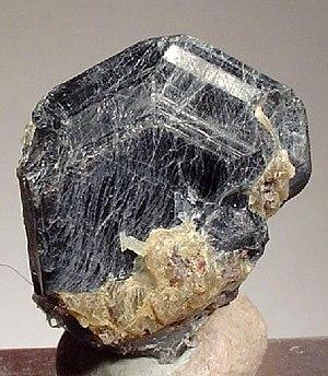 Sapphirine - Indigo-blue sapphirine crystal from Ft. Dauphin, Madagascar (size: 2.1 x 1.9 x 1.4 cm)