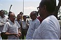 Saroj Ghose And Prasanta Chatterjee Discussing About Science City Project - Meeting Between CMC And NCSM Officers - Science City Site - Dhapa - Calcutta 1993-04-22 0572.JPG