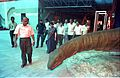 Saroj Ghose and other Dignitaries Watching Apatosaurus - Dinosaurs Alive Exhibition - Science City - Calcutta 1995-06-15 115.JPG