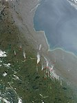 Satellite image of fires in Manitoba and Northern Ontario - 2003-09-09.jpg