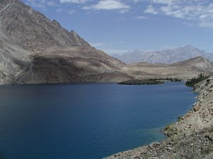 Satpara Lake at Skardu (nearly 2500m, 8,200 fe...