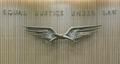 "Sculpture ""Eagle; Justice Above All Else"" at Jacob K. Javitz Federal Building, New York, New York LCCN2010720120.tif"