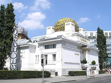The Secession Building, Vienna, built in 1897 by Joseph Maria Olbrich for exhibitions of the Secession group Secession Vienna June 2006 017.jpg