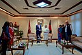 Secretary Kerry Shakes Hands With Bangladeshi Prime Minister Sheikh Hasina Wazed in Dhaka (28692597063).jpg