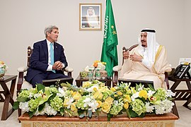 Secretary Kerry Sits With Saudi King Salman Before Bilateral Meeting in Washington (21130096102).jpg
