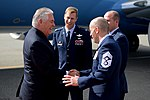 Secretary Tillerson Shakes Hands With U.S. Air Force Chief Master Sgt. Sheehan Upon Arrival in Alaska (33744292194).jpg