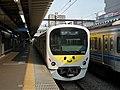 Seibu 38105 at Higashikurume Station.jpg