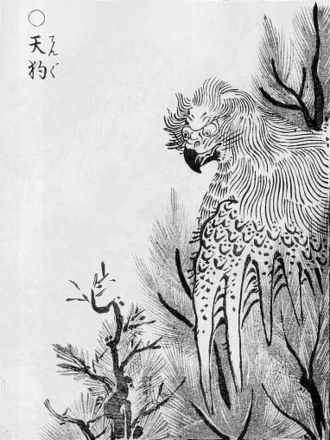 Tengu - Tengu as a kite-like monster, from Toriyama Sekien's Gazu Hyakki Yakō