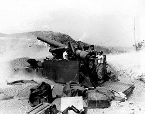 M40 Gun Motor Carriage - 8-inch HMC M43 in Korea.