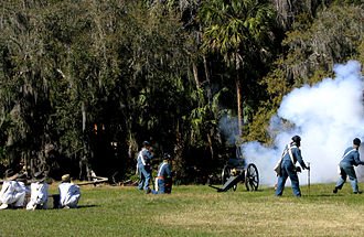 Hillsborough River (Florida) - Seminole War reenactors at Hillsborough River State Park