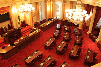 Government of California - The Senate Chamber of the California State Capitol