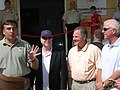 Senators McCain, Burr and Chambliss join President Saakashvili at the opening of a new courthouse in Mtskheta (August 2006).jpg