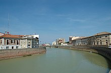 Misa River in Senigallia.