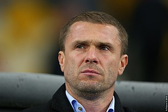 FC Dynamo Kyiv - Serhiy Rebrov, former player and manager of the team from 2014 to 2017.