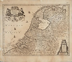 Map of Dutch Republic by Joannes Janssonius. Seven United Netherlands Janssonius 1658.jpg