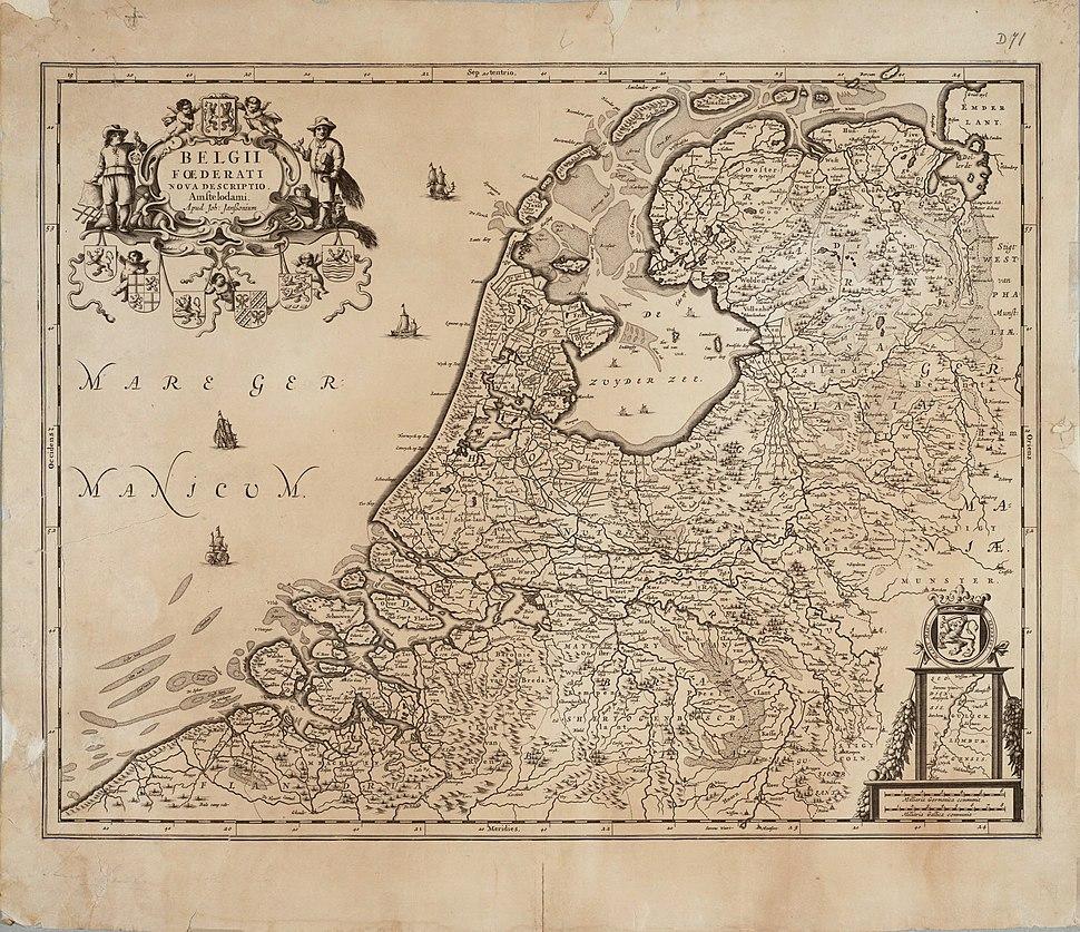 Seven United Netherlands Janssonius 1658
