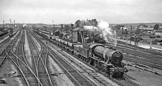 Severn Tunnel Junction railway station - Severn Tunnel Junction Up (Eastbound) main line in 1961