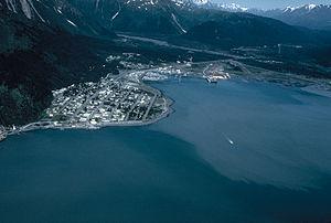 Seward, Alaska - Aerial view of Seward, Alaska