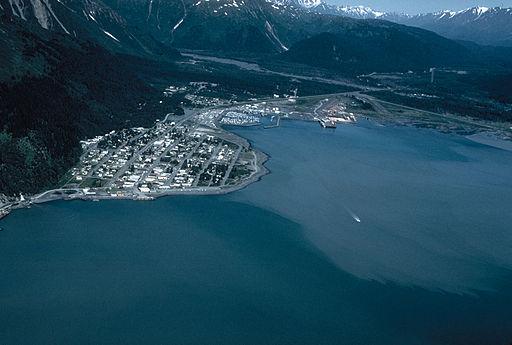 Seward Alaska aerial view