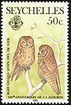 Seychelles scops owl 1985 stamp.jpg