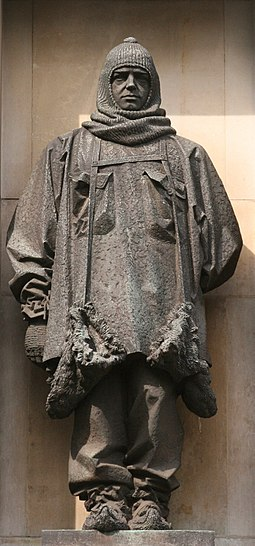 Shackleton statue by C.S. Jagger outside the Royal Geographical Society Shackleton.jpg