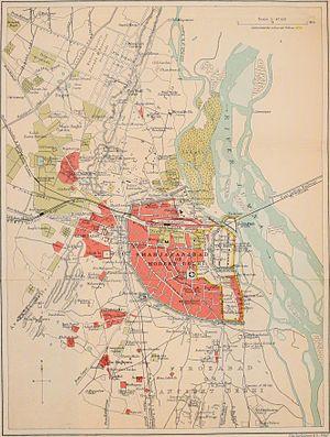 Old Delhi - Shahjahanabad or Old Delhi, 1911 map