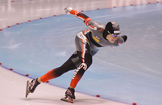 Long track speed skating form of ice speed skating