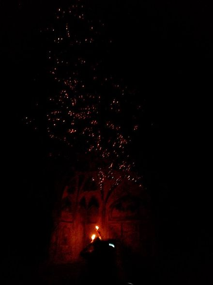Effect produced by lighting candles in Sheesh Mahal, Agra Fort. Sheeshmahal.jpg