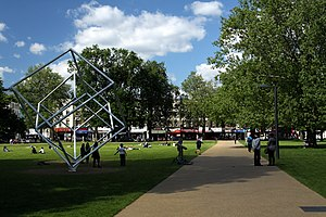 Parks and open spaces in the London Borough of Hammersmith and Fulham - Shepherds Bush Common in spring 2013
