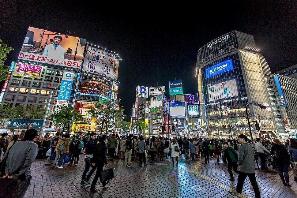 Shibuya District at Night 2015-04 (17806976882)